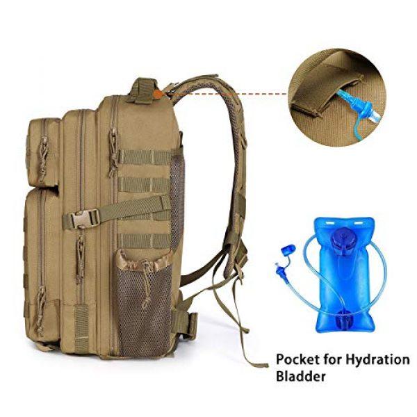 MOSISO Tactical Backpack 5 MOSISO Tactical Backpack, 40L 2-Layer Molle Rucksack Daypack Shoulder Bag