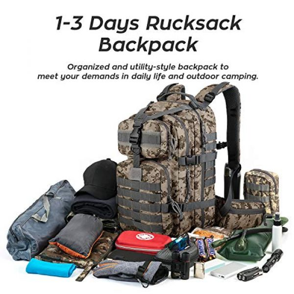 Gelindo Tactical Backpack 6 Gelindo Military Tactical Backpack, Army Molle Bag for Hunting, Camping,Hiking 35L