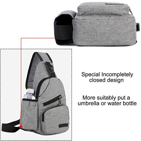 ChangYou Tactical Backpack 4 ChangYou Sling Bag Chest Backpack with USB Charging Port Polyester Shoulder Bag for Outdoor Sports Travel