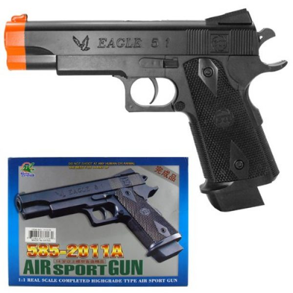 DPCI Airsoft Pistol 1 airsoft eagle 5 1 model# 585-2011a gun pistol 1 1 real scale highgrade type air sport gun 2011a fps 95 size 8.5(Airsoft Gun)