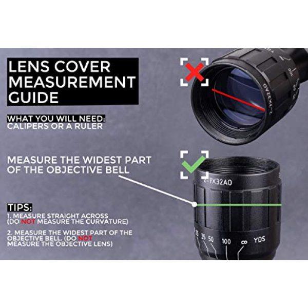 Monstrum Rifle Scope 7 Monstrum S330P 3X Prism Scope | Monstrum Flip Up Lens Cover Set | Bundle