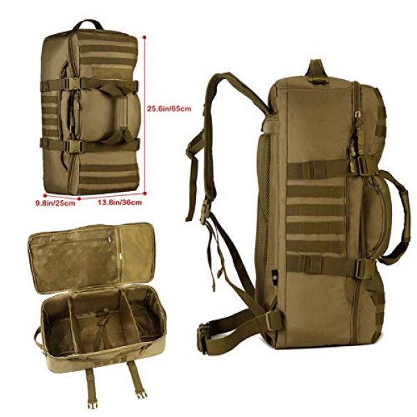 CREATOR Tactical Backpack 3 CREATOR 60L Tactical Backpack Molle Travel Luggage Bags Camping Daypack Duffle Bag