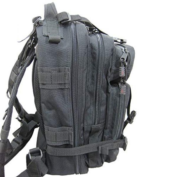Flying Circle Tactical Backpack 2 Presidio Tactical Assault Backpack - Military Approved Compact Backpack Made of Water Resistant 900 Denier Polyester - Good from School to Combat - Features Large Center Pocket & MOLLE Webbing [Black]
