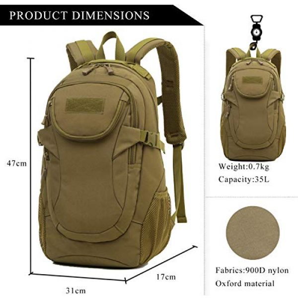 RUI NUO Tactical Backpack 3 RUI NUO 35L Military Backpack Tactical Backpack Army Backpack MOLLE Assault Backpack Tactical Combat Backpack Emergency Bag for Hunting Hiking Camping & Outdoor Activity