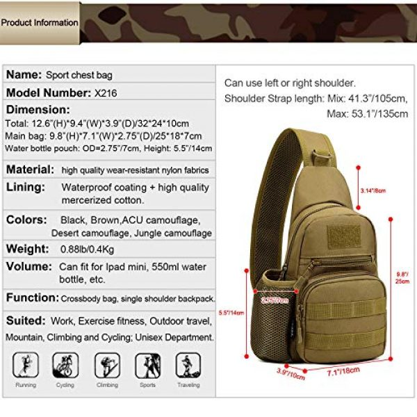 Huntvp Tactical Backpack 3 Huntvp Small Tactical Sling Chest Pack Bag Molle Daypack Backpack Military Crossbody