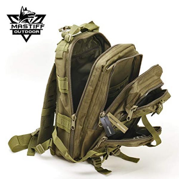 Mastiff Outdoor Tactical Backpack 6 Military Tactical Pack Backpack Army Molle Bug Out Bag Small Rucksack Outdoor Hiking Camping Trekking Hunting
