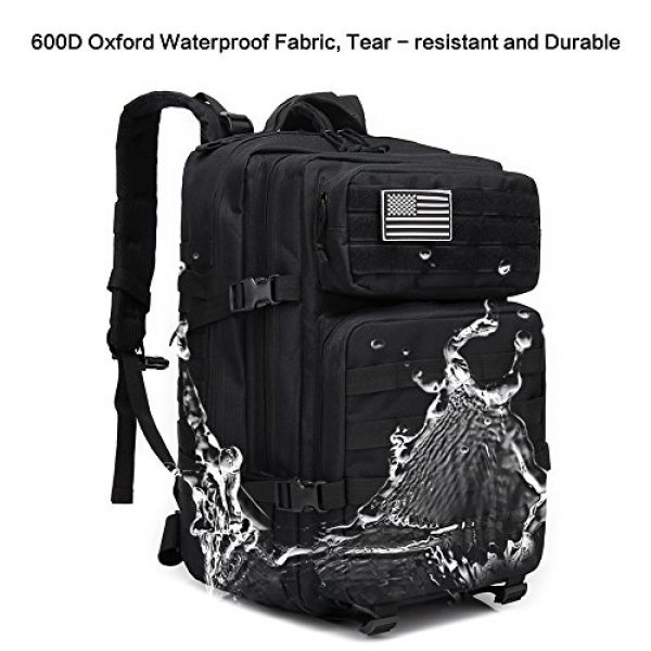 Brainzon Tactical Backpack 4 45L Military Tactical Backpack Large 3 Day Assault Pack Army Molle Bug Out Bag Backpacks Waterproof Rucksacks Daypack