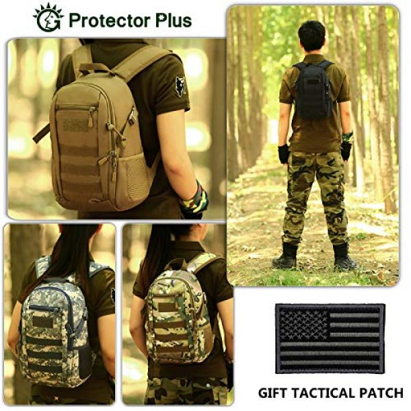 Protector Plus Tactical Backpack 4 Protector Plus Small Tactical Backpack Military School Daypack Army Assault Pack Bug Out Bag Cycling Hiking Camping Rucksack (Patch Included)