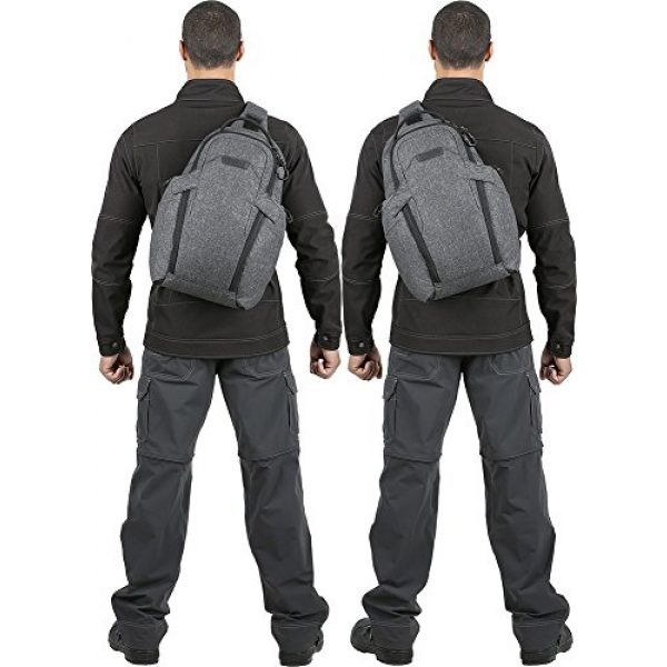 Maxpedition Tactical Backpack 7 Maxpedition Entity 16 CCW-Enabled EDC Sling Pack 16L for Covert Concealed Carry, Charcoal