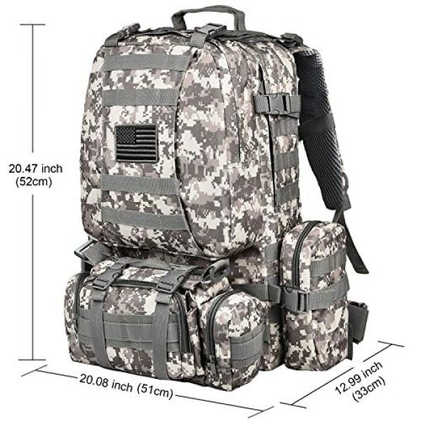 CVLIFE Tactical Backpack 2 CVLIFE Tactical Backpack Military Army Rucksack Assault Pack Built-up Molle Bag