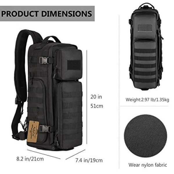 ArcEnCiel Tactical Backpack 3 ArcEnCiel Tactical Sling Pack Military Molle Chest Crossbody Shoulder Bags With Patch