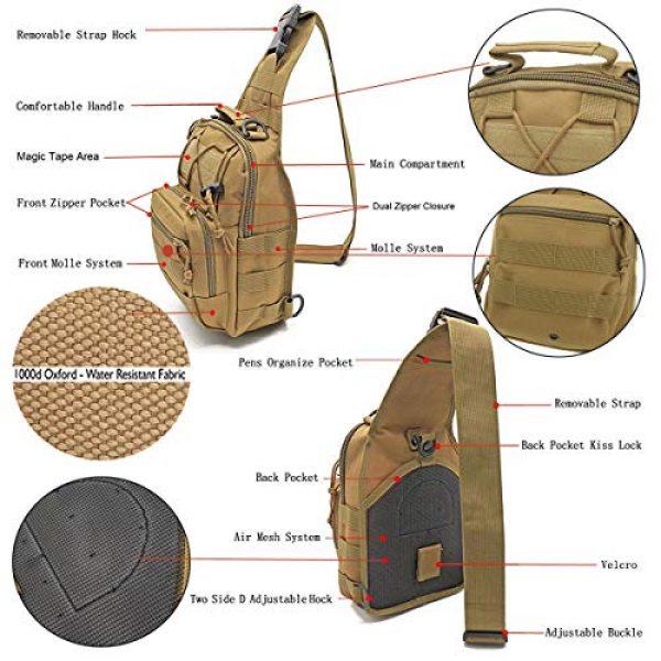 "LBlanco Tactical Backpack 2 LBlanco Tactical Shoulder Sling Bag Small Outdoor Chest Pack for Men Traveling, Trekking, Camping, Rover Sling Daypack """