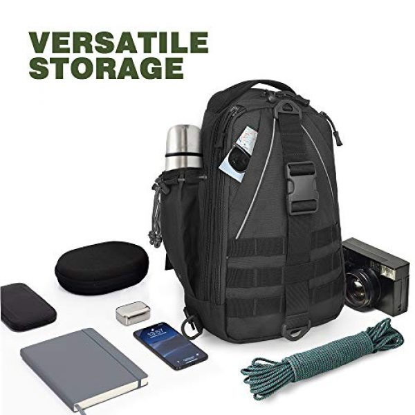 EUTOPETIAN Tactical Backpack 5 EUTOPETIAN Tactical-Backpack for Survival Military-Assault Pack Molle-Rucksack Bag Gear for Outdoor Hiking Camping