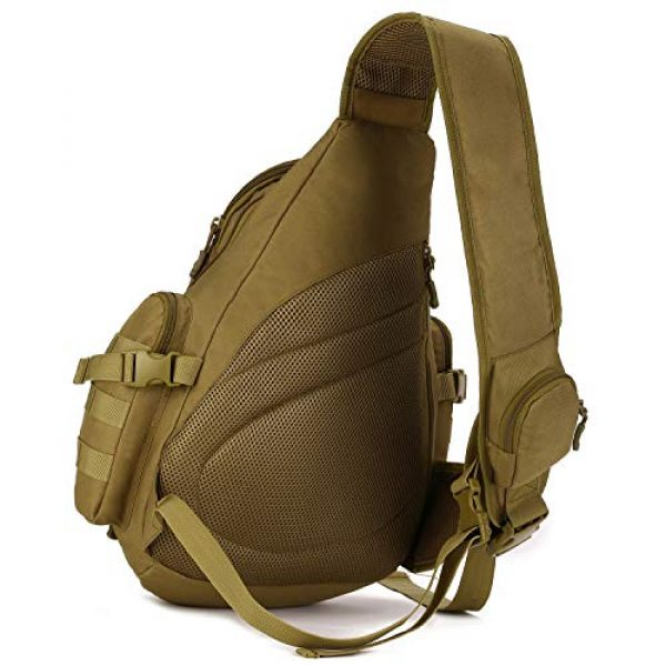 Protector Plus Tactical Backpack 2 Protector Plus Tactical Sling Bag Military MOLLE Crossbody Pack (Patch Included)