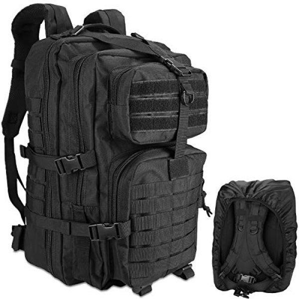 ProCase Tactical Backpack 1 ProCase Military Tactical Backpack, 48L Large Rucksack 3 Day Outdoor Army Assault Molle Pack Go Bag Backpacks -Black