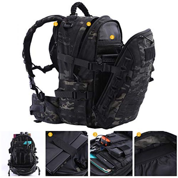 VOTAGOO Tactical Backpack 3 VOTAGOO Tactical Military Backpack Molle Bag Rucksack 30 L Army Assault Pack Outdoor Travel Hiking Camping