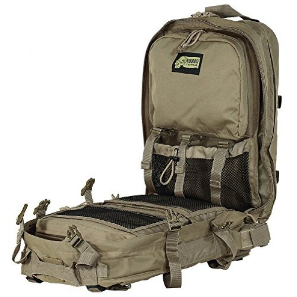 VooDoo Tactical Tactical Backpack 5 VooDoo Tactical Men's Deluxe Professional Special Ops Field Medical Pack, Coyote