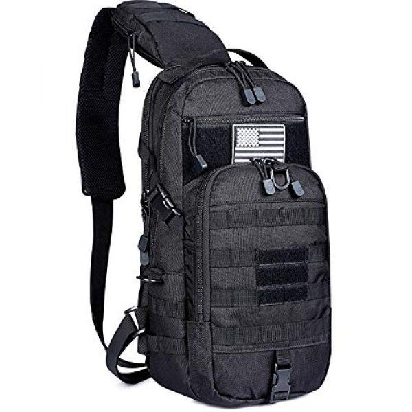G4Free Tactical Backpack 1 G4Free EDC Bag Tactical Sling Bag Backpack Fishing Tackle Molle Chest Shoulder Assault Pack Rectangular Outdoor Daypack