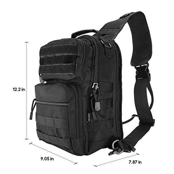 ProCase Tactical Backpack 2 ProCase Tactical Sling Bag Pack with Pistol Holster, Military Rover Sling Shoulder Backpack Outdoor Sport Daypack for Hunting, Trekking and Camping -Black