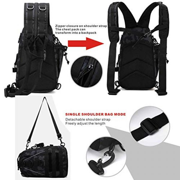 DOUN Tactical Backpack 4 DOUNto Tactical Sling Backpack, EDC Molle Sling Bag Military Daypack Backpack Outdoor Range Bags