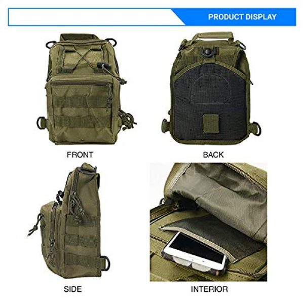 Rootless Tactical Backpack 2 Rootless Tactical MOLLE Military Sling Daypack - Small Messenger Bag