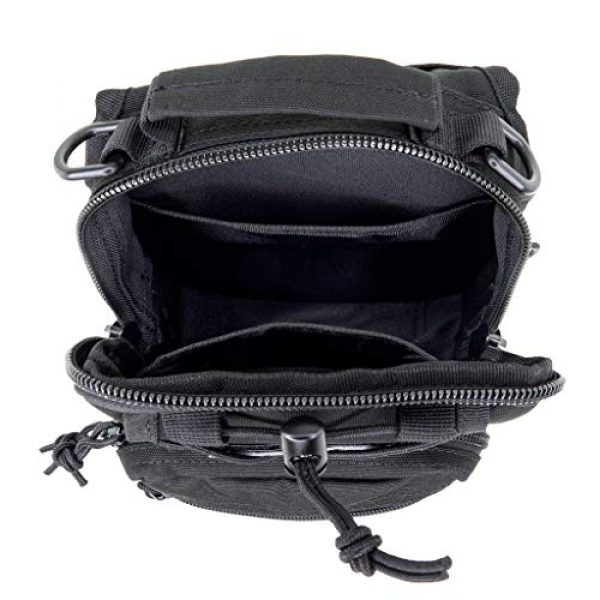 LINE2design Tactical Backpack 2 LINE2design First Aid Sling Backpack - EMS Equipment Emergency Medical Supplies Tactical Range Shoulder Molle Bag - Heavy Duty Sports Outdoor Rescue Pack - Perfect for Camping Hiking Trekking - Black