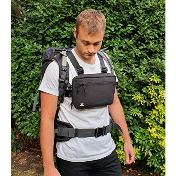 Blenka Tactical Backpack 7 Blenka Lightweight Chest Pack | Front Bag design great for Hiking, Running, Cycling, Climbing, Travelling and Tactical