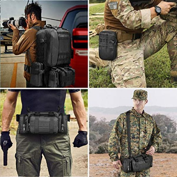 CVLIFE Tactical Backpack 7 CVLIFE Military Tactical Backpack Army Assault Pack Built-up Molle Bag Rucksack