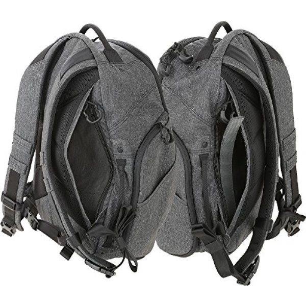 Maxpedition Tactical Backpack 6 Entity 21 CCW-Enabled EDC Backpack 21L (Charcoal)