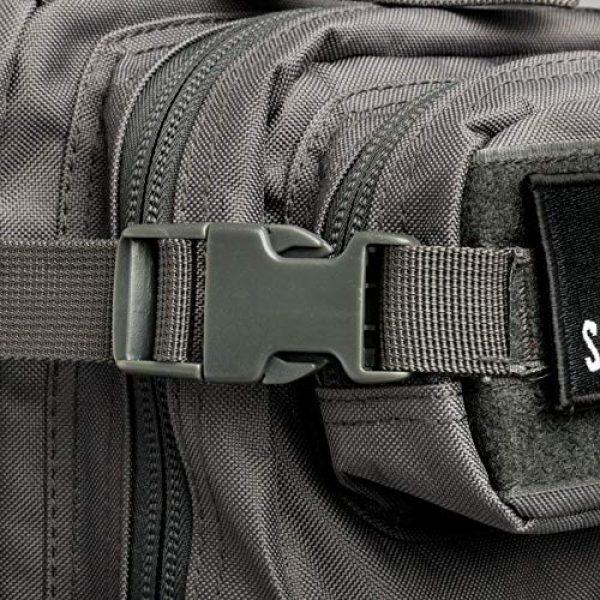 Savage Cut Tactical Backpack 6 Savage Cut Waterproof Tactical Bag - Military Laser Cut, Heavy Duty Survival Backpack (Black)