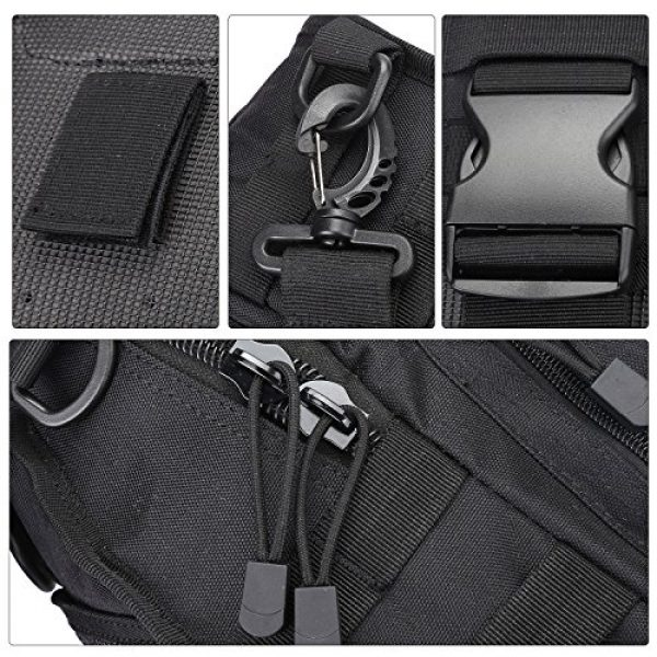 Prospo Tactical Backpack 5 Prospo Tactical Sling Bag Pack Military Molle EDC Chest One Strap Daypack Outdoor Black New