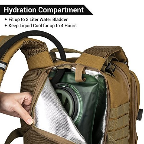 RUPUMPACK Tactical Backpack 5 RUPUMPACK Military Tactical Backpack Army MOLLE Hydration Bag 3 Day Rucksack Outdoor Hiking School Daypack 33L