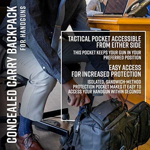 American Rebel Inc. Tactical Backpack 6 Tactical Concealed Carry Durable Backpack - Medium Freedom Bag for Every Day Use - American Rebel Inc.