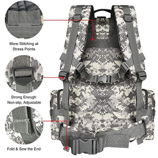 CVLIFE Tactical Backpack 6 CVLIFE Tactical Backpack Military Army Rucksack Assault Pack Built-up Molle Bag