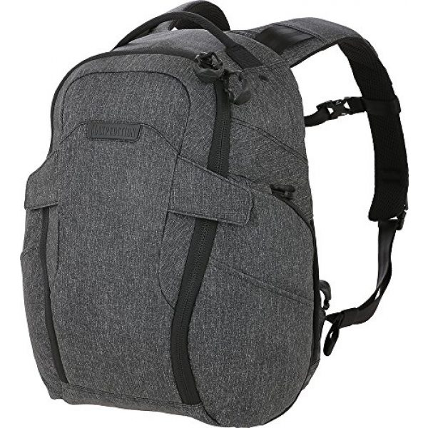 Maxpedition Tactical Backpack 1 Entity 21 CCW-Enabled EDC Backpack 21L (Charcoal)