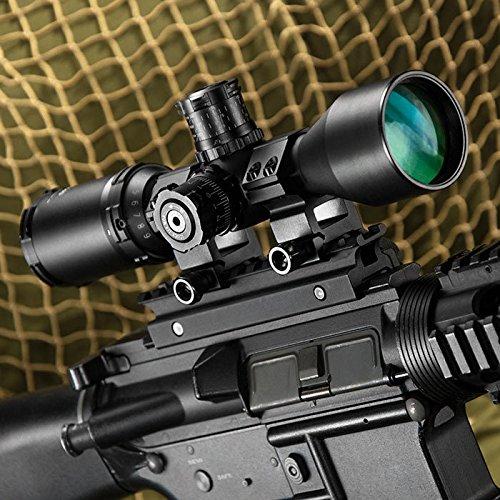 BARSKA Rifle Scope 5 BARSKA AC11874 Contour .223 BDC Rifle Scope 3-9x40 Lockable Turrets, Mil-Dot Reticle with Rings