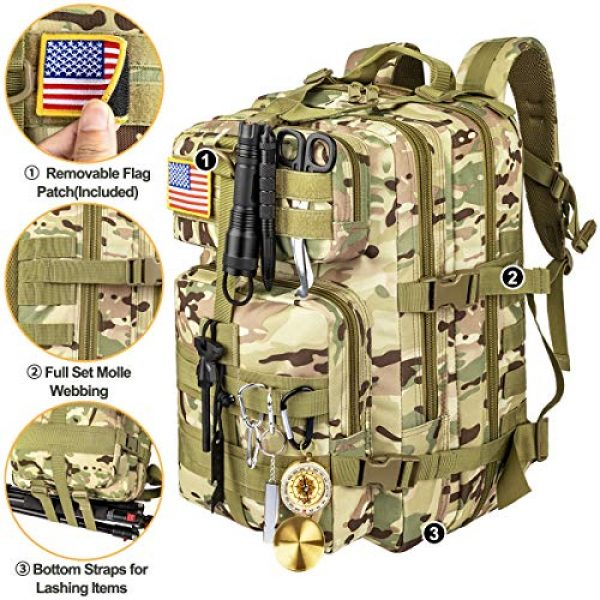 CVLIFE Tactical Backpack 6 CVLIFE Military Tactical Backpack Army 3 Day Assault Pack Molle Bag EDC Rucksack
