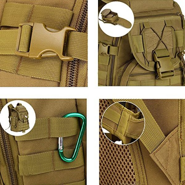 Pisfun Tactical Backpack 5 Pisfun Tactical Backpack 40L Camping Bags Waterproof Molle System Backpack Military 3P Tad Assault Travel Bag for Men Cordura
