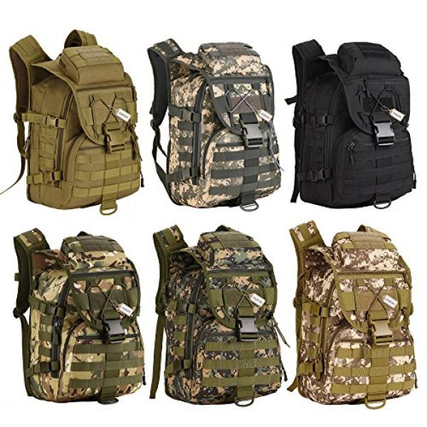 Pisfun Tactical Backpack 7 Pisfun Tactical Backpack 40L Camping Bags Waterproof Molle System Backpack Military 3P Tad Assault Travel Bag for Men Cordura