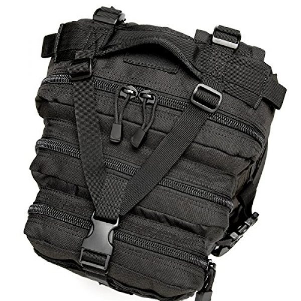 CRAZY ANTS Tactical Backpack 7 CRAZY ANTS Military Tactical Backpack Waterproof Outdoor Gear for Camping Hiking,Black + 2 Detachable Packs