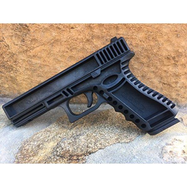GARRET MACHINE Rubber Training Pistol Blue Gun 3 GARRET MACHINE Plastic Inert Training Pistol Compatible with Glock (Black, 17)
