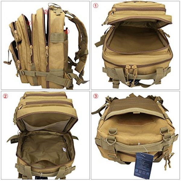 G4Free Tactical Backpack 4 G4Free Tactical Shoulder Backpack Military Survival Pack Army Molle Bug Out Bag Surplus Backpack 35L