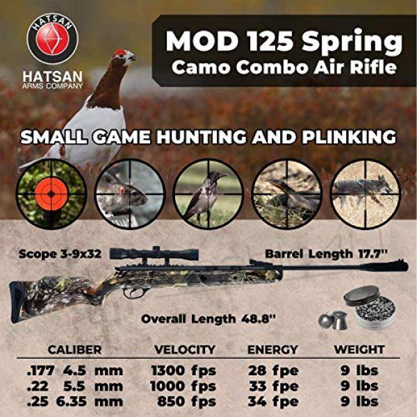 Wearable4U Air Rifle 2 Hatsan Mod 125 Spring Camo Combo Air Rifle with Wearable4U Paper Targets and Lead Pellets Bundle