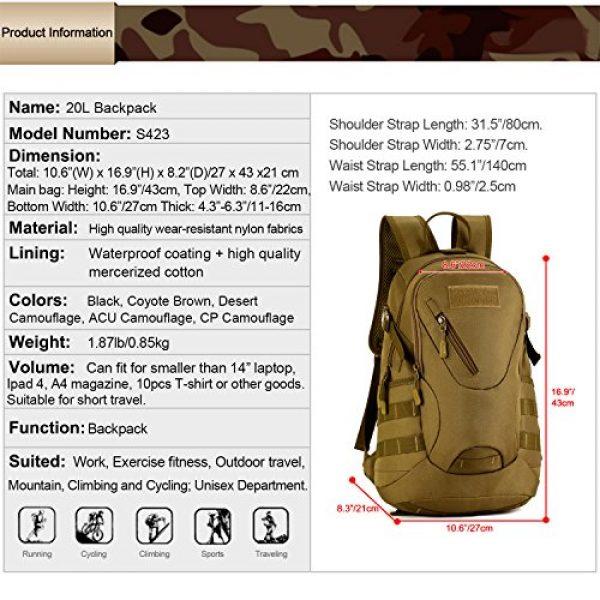 Huntvp Tactical Backpack 3 Huntvp Military MOLLE Backpack Rucksack Gear Tactical Assault Pack Student School Bag 20L for Hunting Camping Trekking Travel