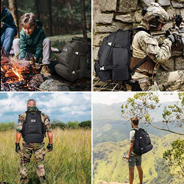NOOLA Tactical Backpack 7 NOOLA Tactical Military Backpack Army 3 Day Assault Pack Large Rucksack Molle Bag