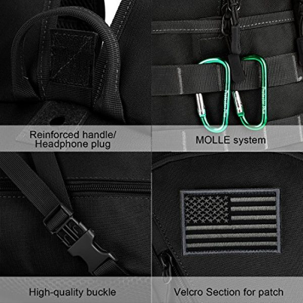 ArcEnCiel Tactical Backpack 7 ArcEnCiel Motorcycle Backpack Tactical Military Bag Army Assault Pack with Patch