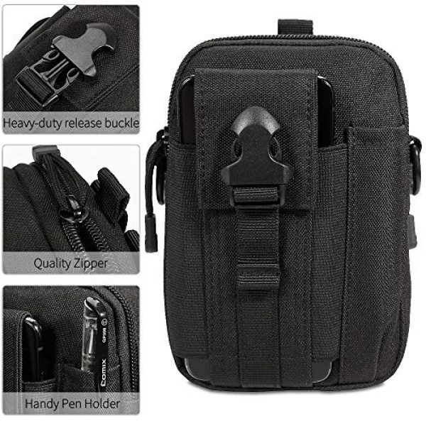 Camyse Tactical Backpack 5 Camyse Outdoor Tactical Waist Bag EDC Molle Belt Waist Pouch Security Purse Phone Carrying Case for iPhone 8 Plus Galaxy Note 9 S9 Or Less Than 6.2 inches Smartphone