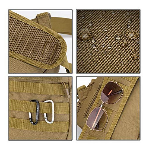 TEGOOL Tactical Backpack 6 Tactical Sling Bag,Chest Shoulder Small Backpack,Casual Satchel Day Pack