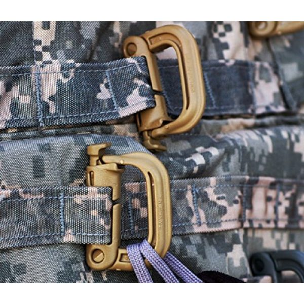 FMS Tactical Carabiner 2 Ravenox Grimloc Locking D Ring | Tactical Gear Including Molle Carabiner | Molle Packs Available Range from 25-1,000 | Grimloc Molle with Textured Grip, Self-Purging Ports, and Lightweight Features