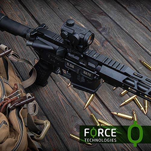NANA Rifle Scope 7 Force Technologies Red Dot Sight RDS-21, 4 MOA, Matte Black, with QD-Mount for Weaver/Picatinny
